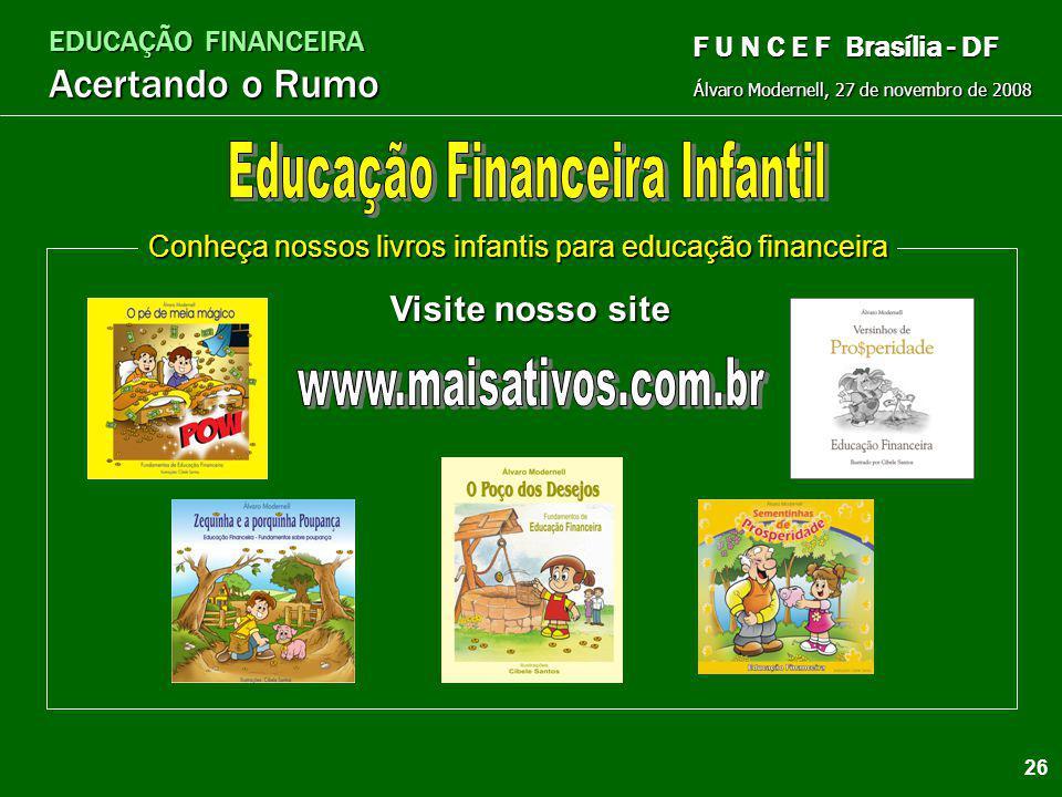 EDUCAÇÃO FINANCEIRA Acertando o Rumo Álvaro Modernell, 27 de novembro de 2008 F U N C E F Brasília - DF 25