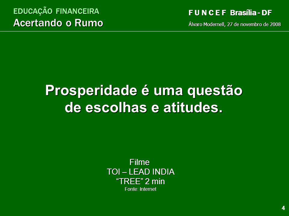 EDUCAÇÃO FINANCEIRA Acertando o Rumo Álvaro Modernell, 27 de novembro de 2008 F U N C E F Brasília - DF O que é Educação Financeira? Conceito geral Co