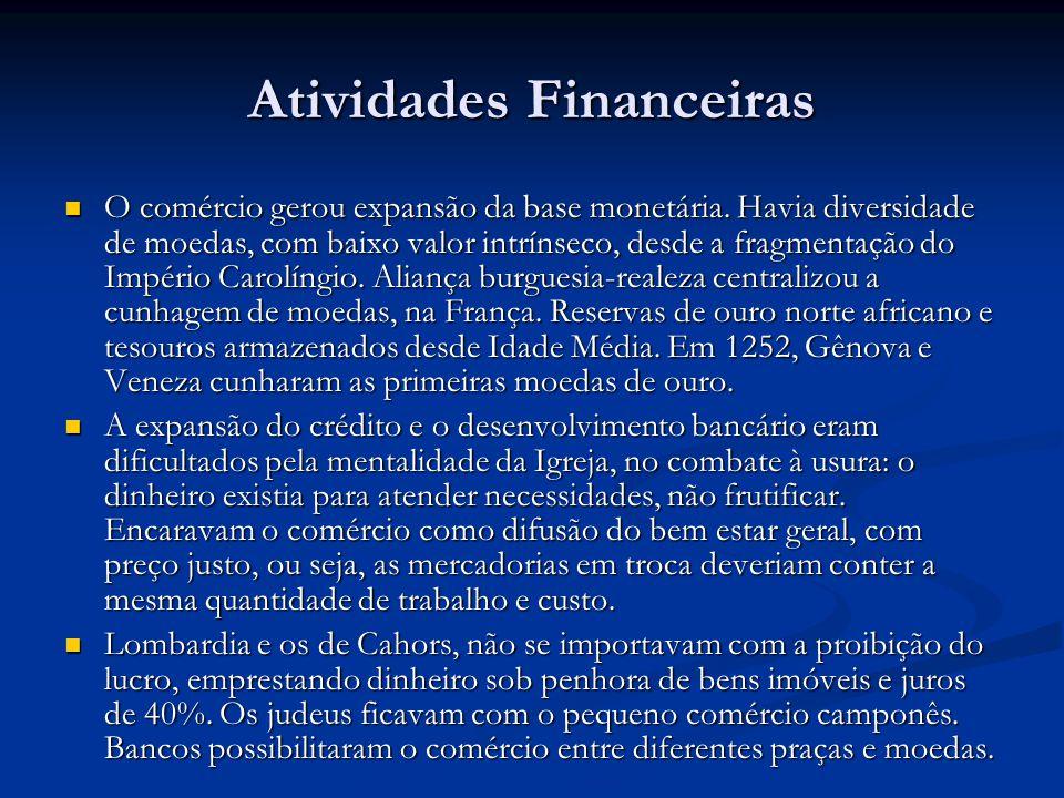 Atividades Financeiras O comércio gerou expansão da base monetária.