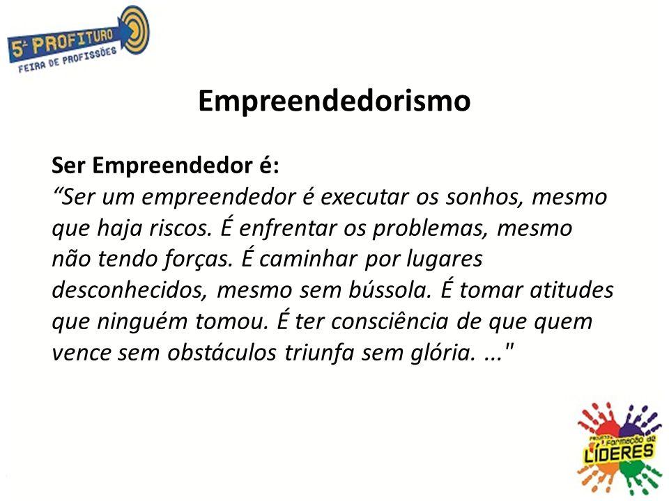Empreendedorismo Ser Empreendedor é: Ser um empreendedor é executar os sonhos, mesmo que haja riscos.