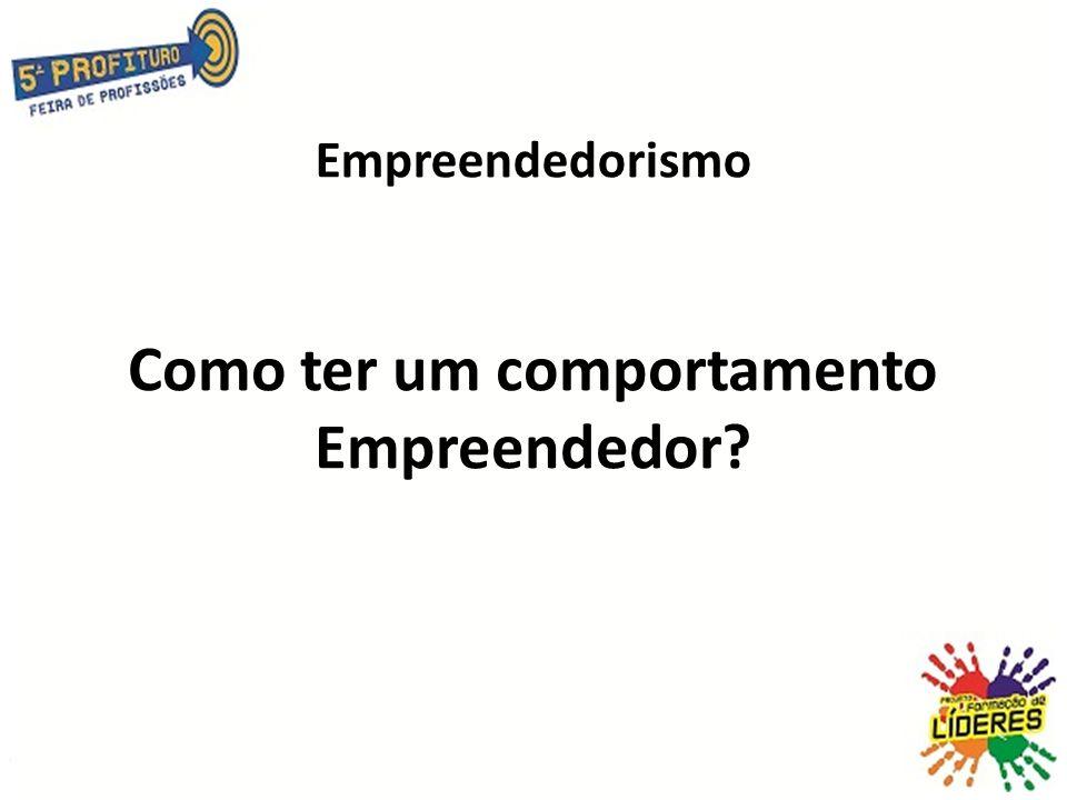 Empreendedorismo Como ter um comportamento Empreendedor?