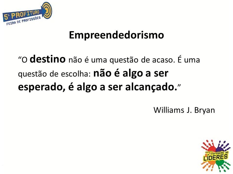 Empreendedorismo O destino não é uma questão de acaso.