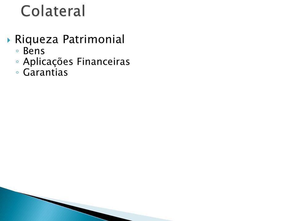 Riqueza Patrimonial Bens Aplicações Financeiras Garantias