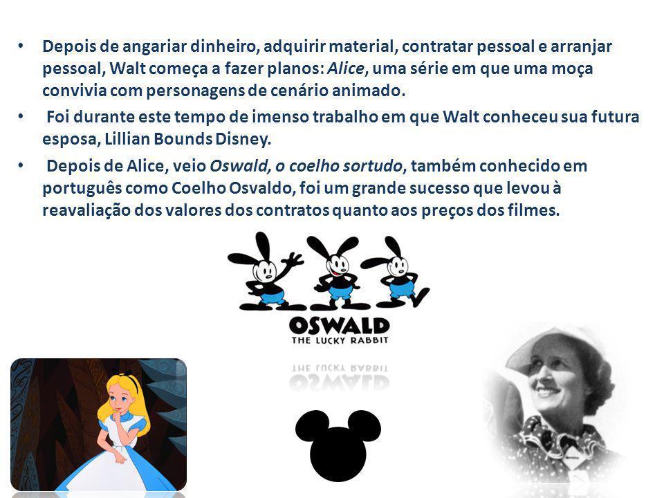 Depois de angariar dinheiro, adquirir material, contratar pessoal e arranjar pessoal, Walt começa a fazer planos: Alice, uma série em que uma moça convivia com personagens de cenário animado.