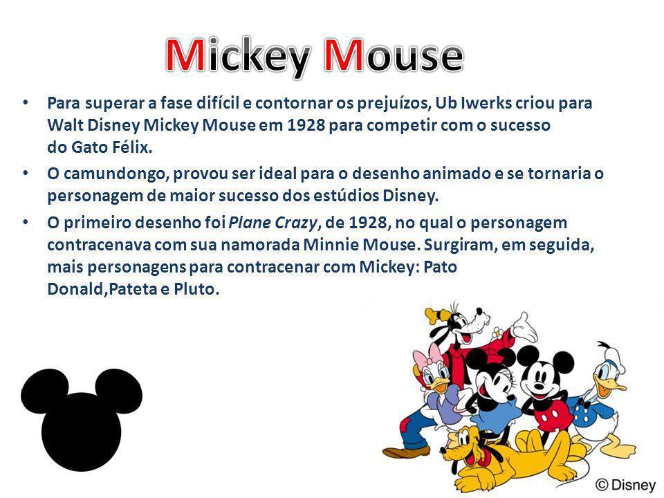 Para superar a fase difícil e contornar os prejuízos, Ub Iwerks criou para Walt Disney Mickey Mouse em 1928 para competir com o sucesso do Gato Félix.