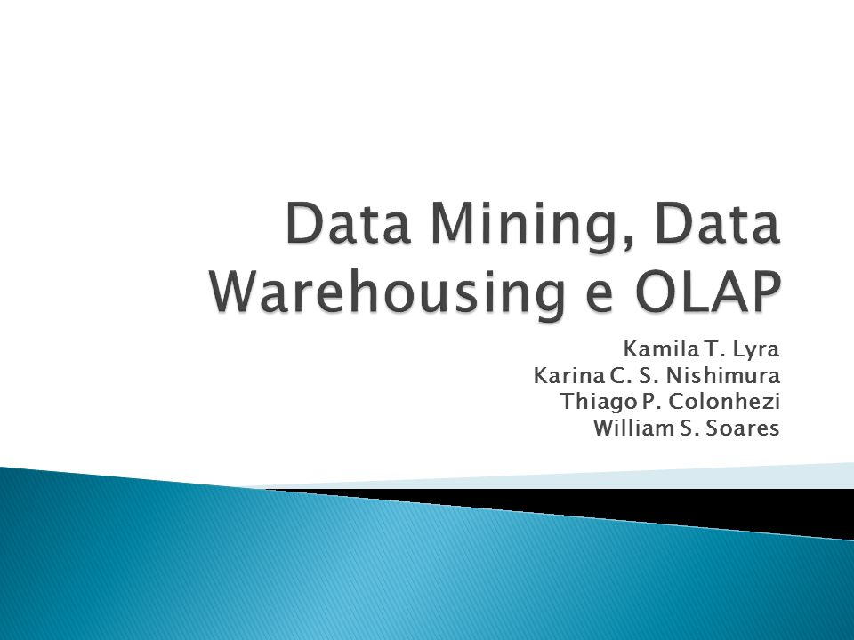 Banco de dados de informações empresariais.Processamento de consulta e não de transações.