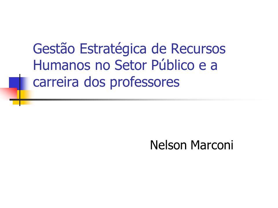 Gestão Estratégica de Recursos Humanos no Setor Público e a carreira dos professores Nelson Marconi