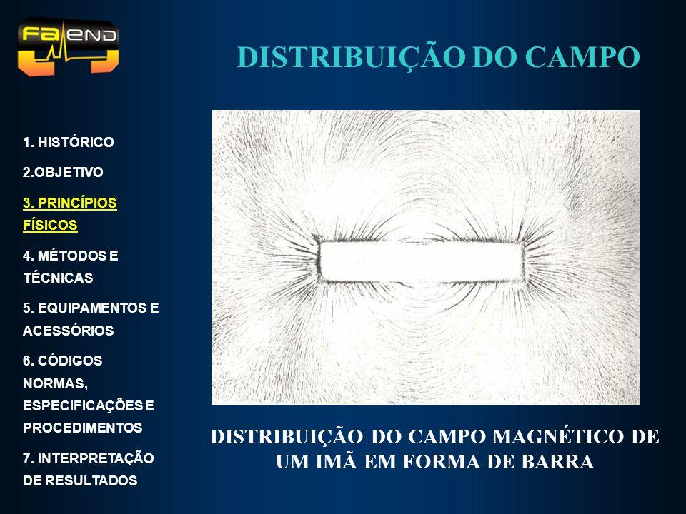 DISTRIBUIÇÃO DO CAMPO MAGNÉTICO DE UM IMÃ EM FORMA DE BARRA 1. HISTÓRICO 2.OBJETIVO 3. PRINCÍPIOS FÍSICOS 4. MÉTODOS E TÉCNICAS 5. EQUIPAMENTOS E ACES