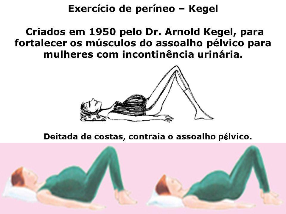 Exerc í cio de per í neo – Kegel Criados em 1950 pelo Dr. Arnold Kegel, para fortalecer os músculos do assoalho pélvico para mulheres com incontinênci