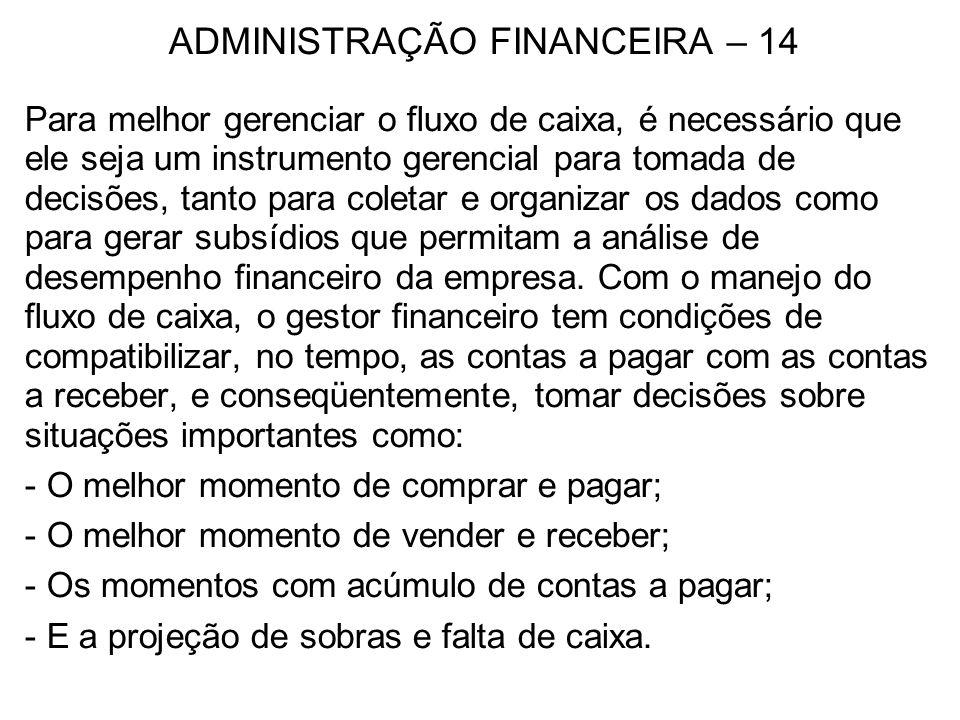 ADMINISTRAÇÃO FINANCEIRA – 25 RISCO DE MERCADO Refere-se às empresas que têm Capital Aberto, que são as Sociedades Anônimas.