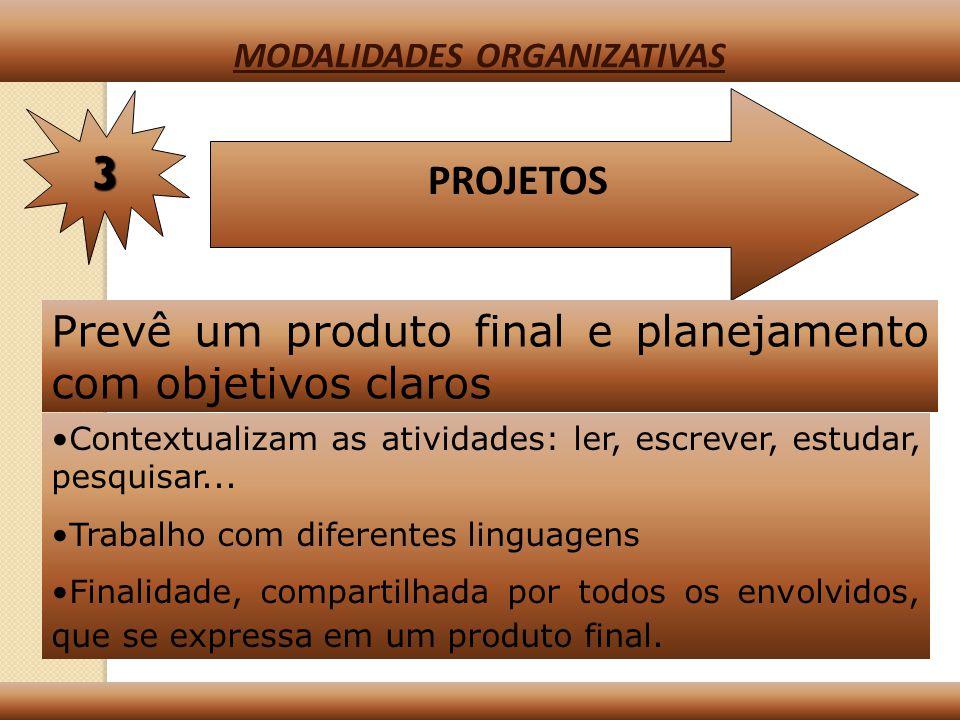 SITUAÇÕES INDEPENDENTES (SISTEMATIZAÇÃO) 2 MODALIDADES ORGANIZATIVAS Têm como objetivo principal a sistematização de conhecimentos Ex: Pontuação Escala Cartográfica Algoritmo Técnica de projeção (boxe)