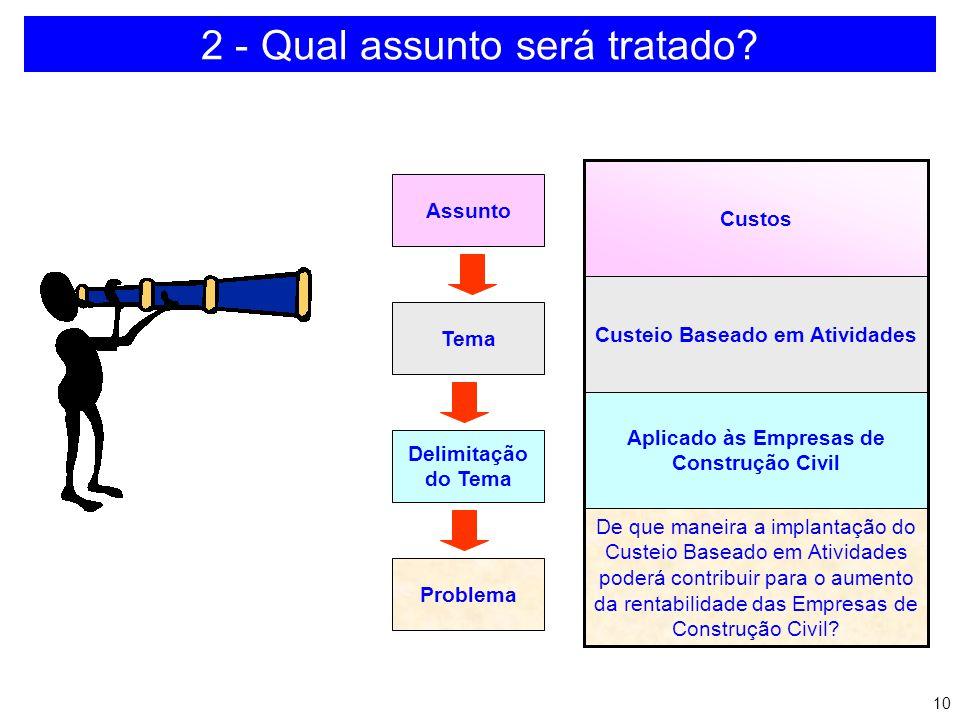 9 1 - Qual tema será abordado? a)Domínio do tema b)Preparo para desenvolver o tema c)Metodologia de pesquisa d)Referências bibliográficas e)Forma de a