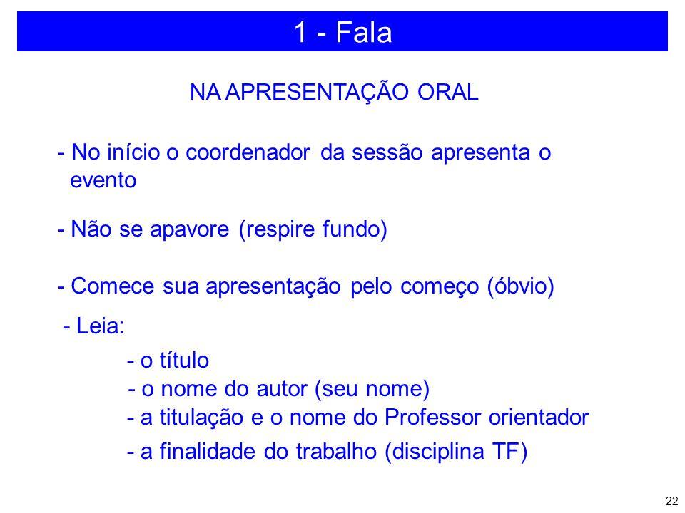 21 1 - Fala a)Simples b)Direta c)Pausada d)Sem vícios de linguagem: Né Tá Entendeu Etc.