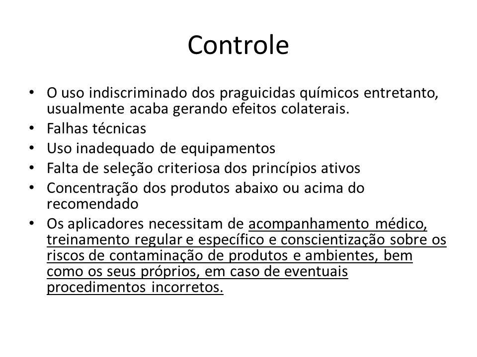 Controle O uso indiscriminado dos praguicidas químicos entretanto, usualmente acaba gerando efeitos colaterais.