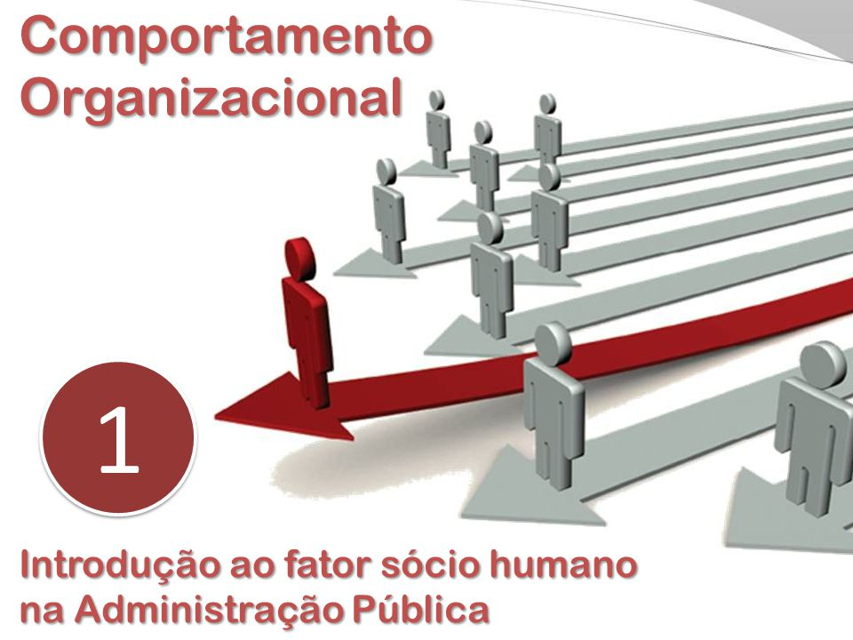 Comportamento Organizacional 1 1 Introdução ao fator sócio humano na Administração Pública
