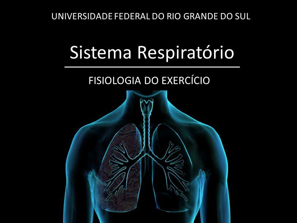 Sistema Respiratório UNIVERSIDADE FEDERAL DO RIO GRANDE DO SUL FISIOLOGIA DO EXERCÍCIO