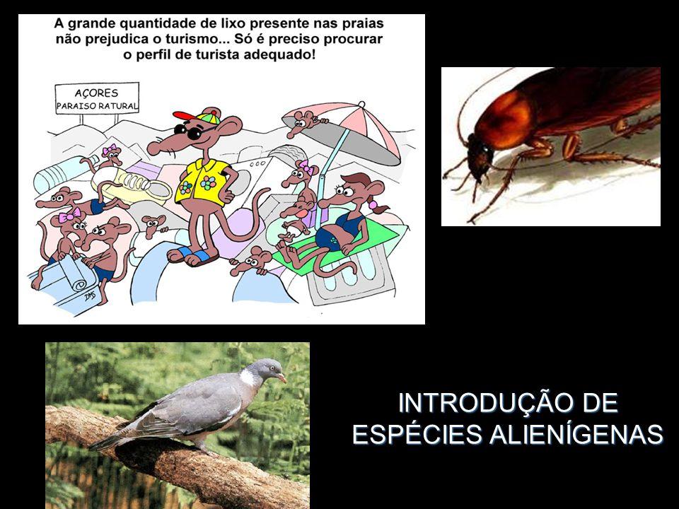 INTRODUÇÃO DE ESPÉCIES ALIENÍGENAS
