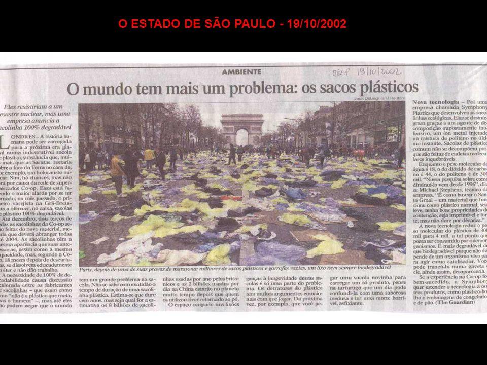 O ESTADO DE SÃO PAULO - 19/10/2002