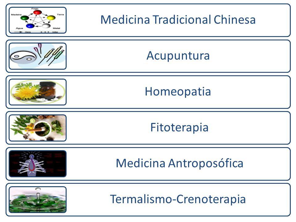 Medicina Tradicional Chinesa Acupuntura Homeopatia Fitoterapia Medicina Antroposófica Termalismo-Crenoterapia