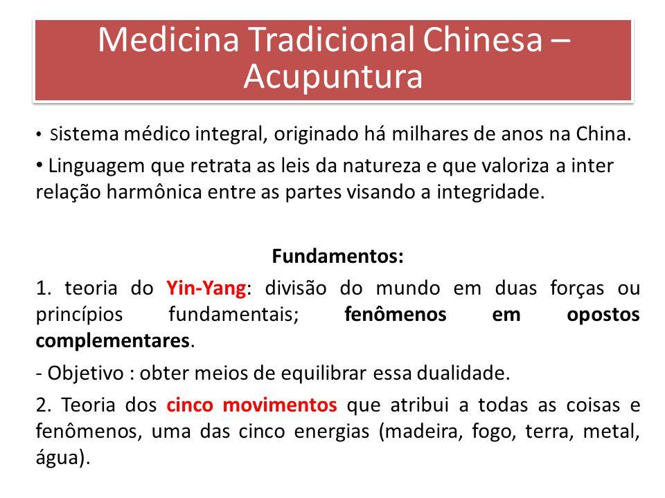 S istema médico integral, originado há milhares de anos na China. Linguagem que retrata as leis da natureza e que valoriza a inter relação harmônica e