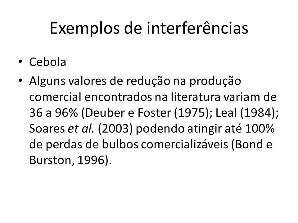 Hewson e Roberts (1971), determinando o Período Crítico de Prevenção à Interferência (PCPI) de plantas daninhas na cultura da cebola, verificaram que as perdas no rendimento poderiam ser evitadas se a cultura fosse mantida livre de plantas daninhas por um período de 14 a 42dias após a sua emergência.
