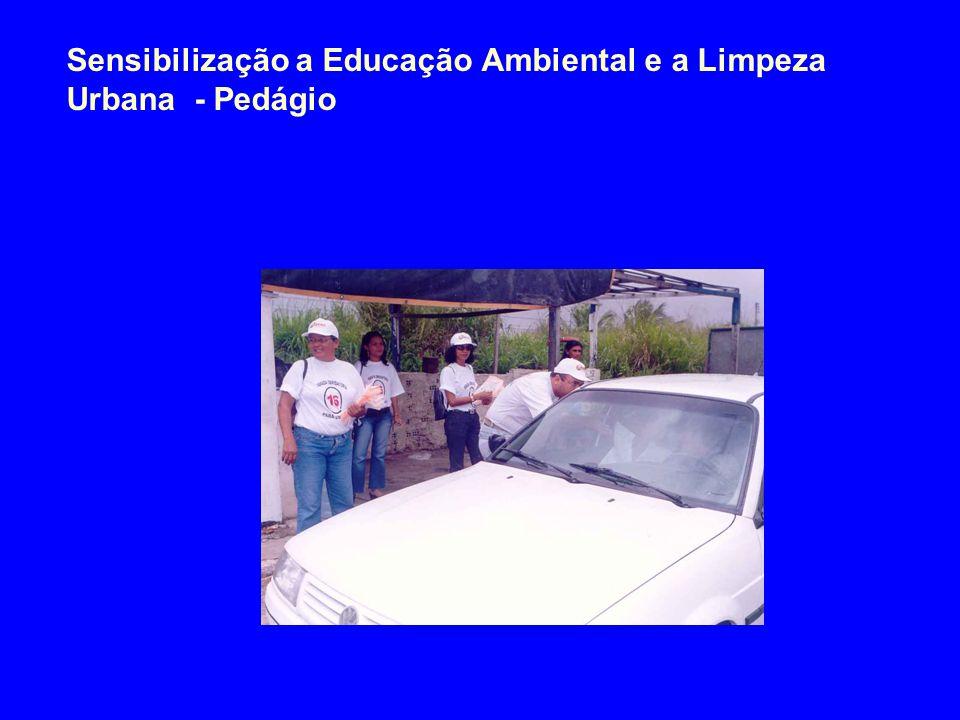 Sensibilização a Educação Ambiental e a Limpeza Urbana - Pedágio