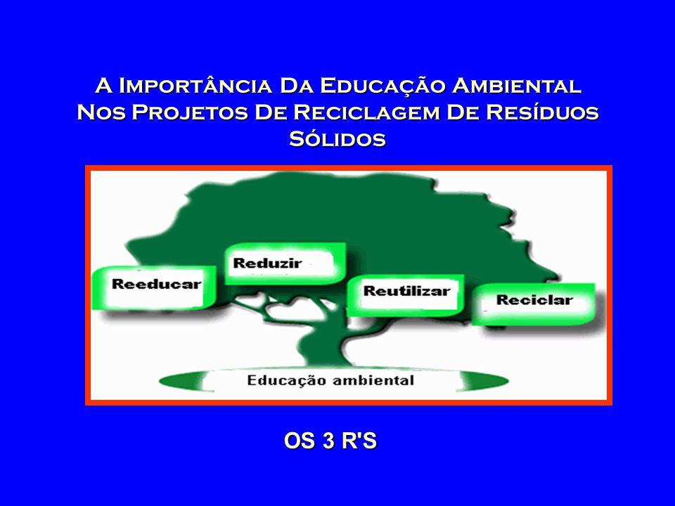 A Importância Da Educação Ambiental Nos Projetos De Reciclagem De Resíduos Sólidos OS 3 R'S