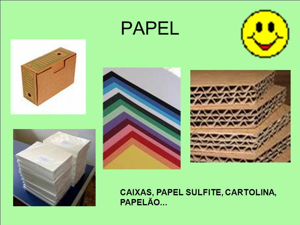 PAPEL CAIXAS, PAPEL SULFITE, CARTOLINA, PAPELÃO...