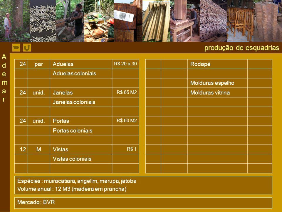 produção de esquadrias 24par Aduelas R$ 20 a 30 Rodapé Aduelas coloniais Molduras espelho 24unid.