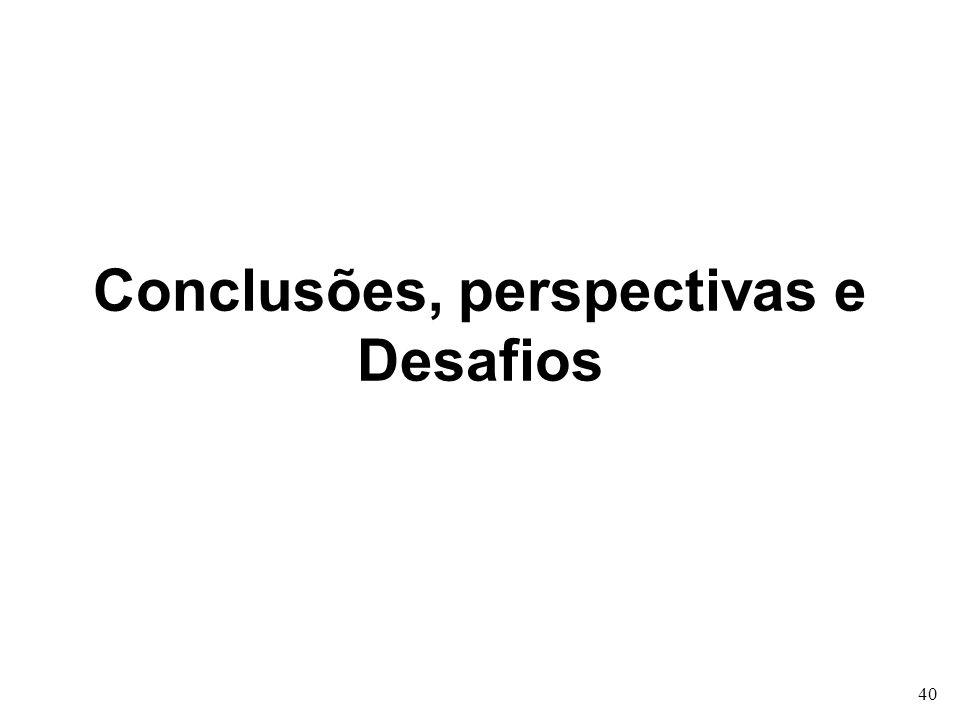 Conclusões, perspectivas e Desafios 40