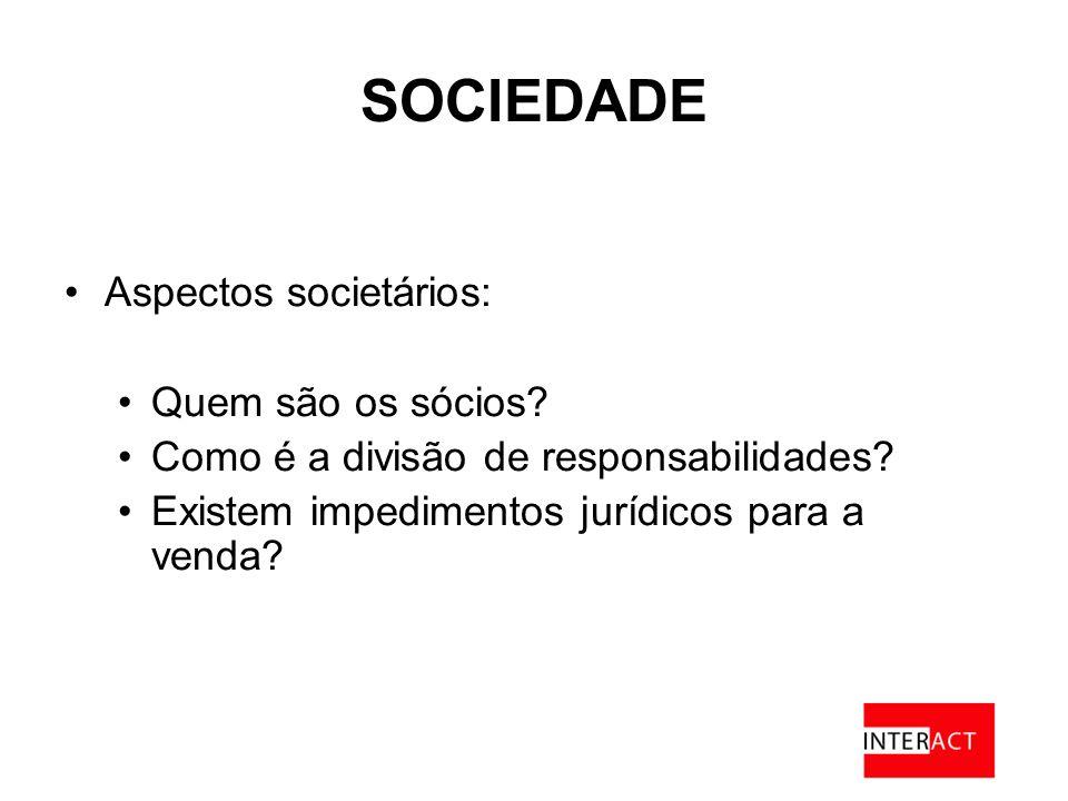 SOCIEDADE Aspectos societários: Quem são os sócios.