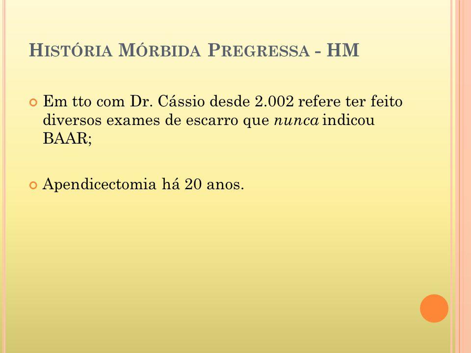 H ISTÓRIA M ÓRBIDA P REGRESSA - HM Em tto com Dr.