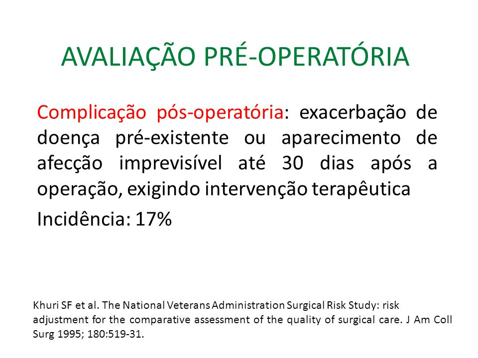 AVALIAÇÃO PRÉ-OPERATÓRIA Questionário pré-operatório Você costuma tossir frequentemente.