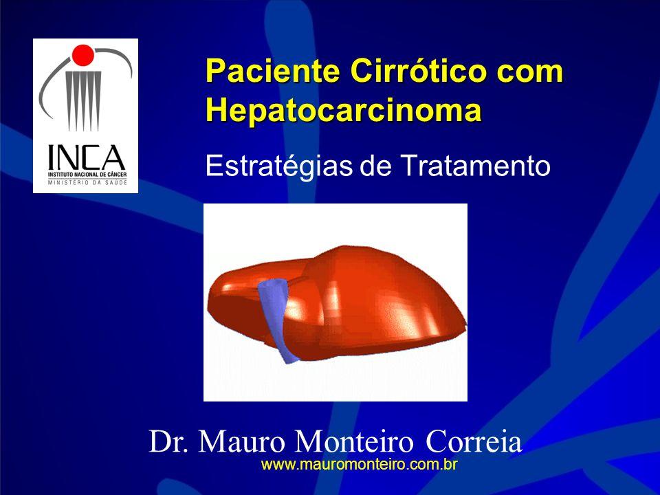 Paciente Cirrótico com Hepatocarcinoma Estratégias de Tratamento Dr.