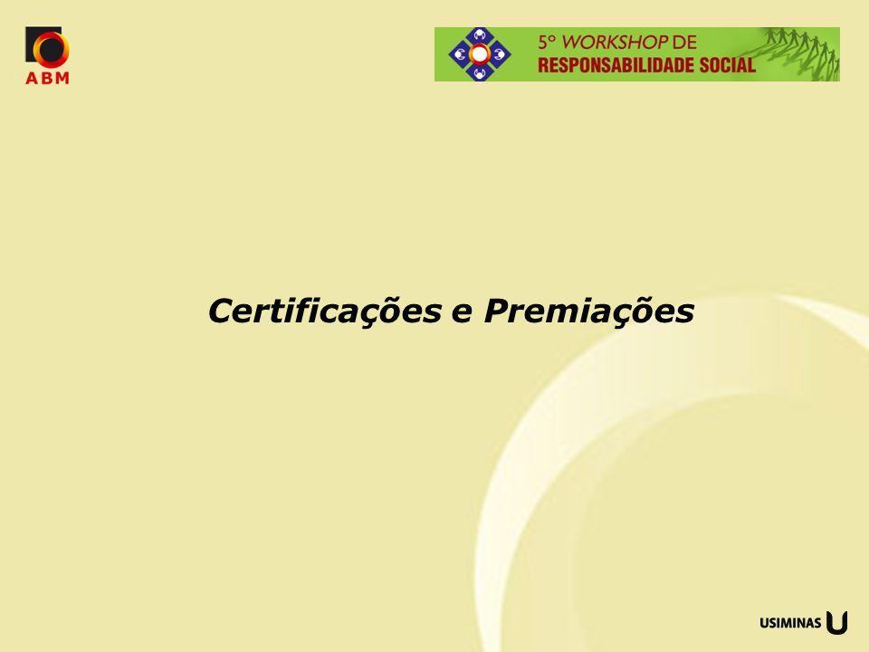 Certificações e Premiações