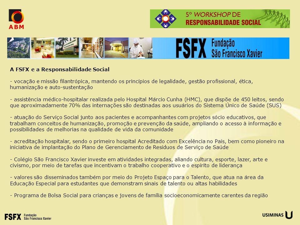A FSFX e a Responsabilidade Social - vocação e missão filantrópica, mantendo os princípios de legalidade, gestão profissional, ética, humanização e au
