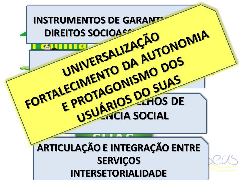 INSTRUMENTOS DE GARANTIA DOS DIREITOS SOCIOASSISTENCIAIS INSTRUMENTOS DE GARANTIA DOS DIREITOS SOCIOASSISTENCIAIS REGULAMENTAÇÃOREGULAMENTAÇÃO PAPEL D