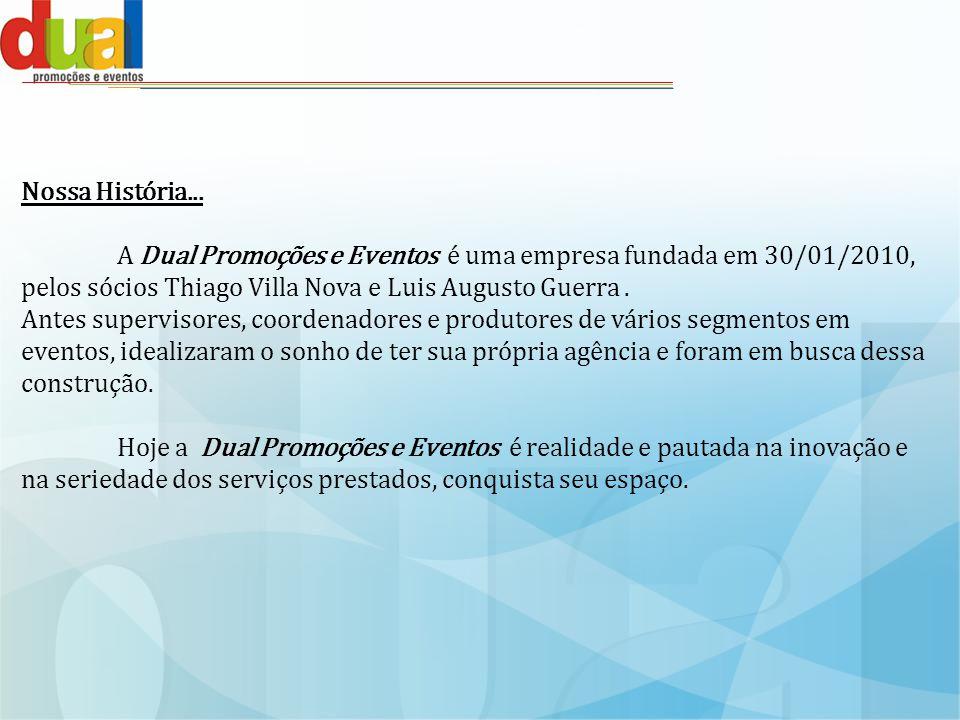 Clientes Dual Promoções e Eventos em ações realizadas para grandes parceiros.