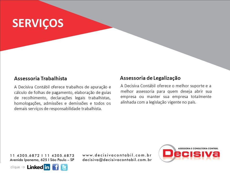 SERVIÇOS A Decisiva Contábil oferece trabalhos de apuração e cálculo de folhas de pagamento, elaboração de guias de recolhimento, declarações legais t