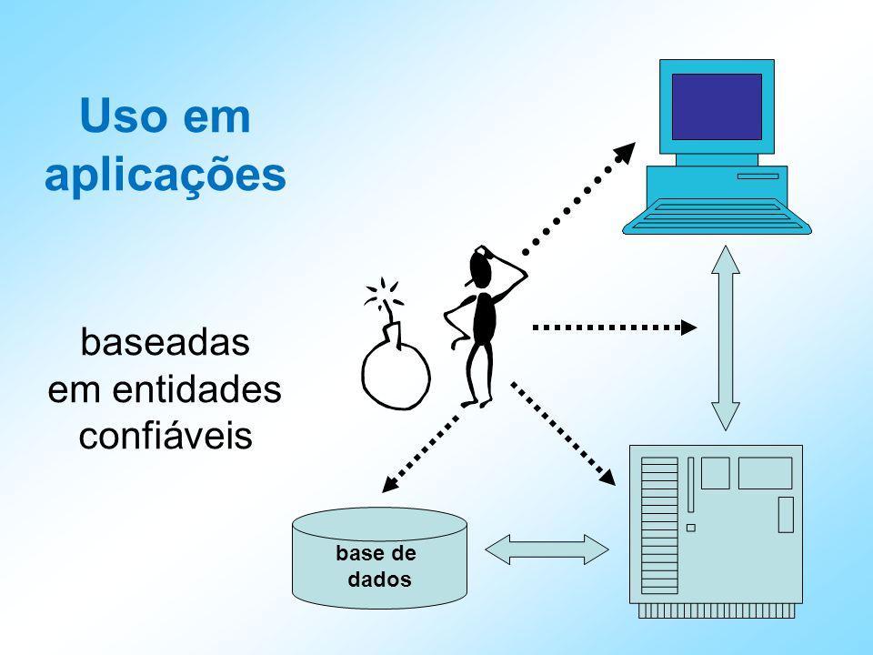 Uso em aplicações baseadas em entidades confiáveis base de dados