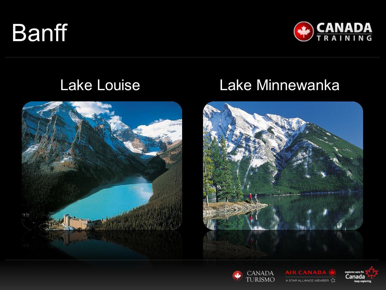 Banff Lake MinnewankaLake Louise