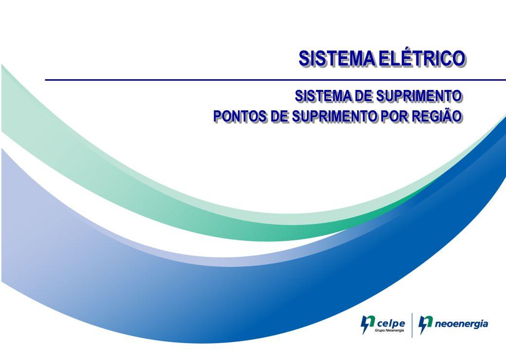SISTEMA ELÉTRICO SISTEMA DE SUPRIMENTO PONTOS DE SUPRIMENTO POR REGIÃO SISTEMA DE SUPRIMENTO PONTOS DE SUPRIMENTO POR REGIÃO