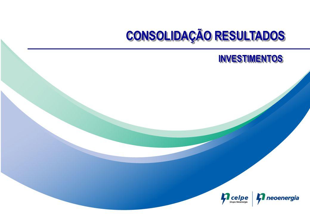 CONSOLIDAÇÃO RESULTADOS INVESTIMENTOSINVESTIMENTOS