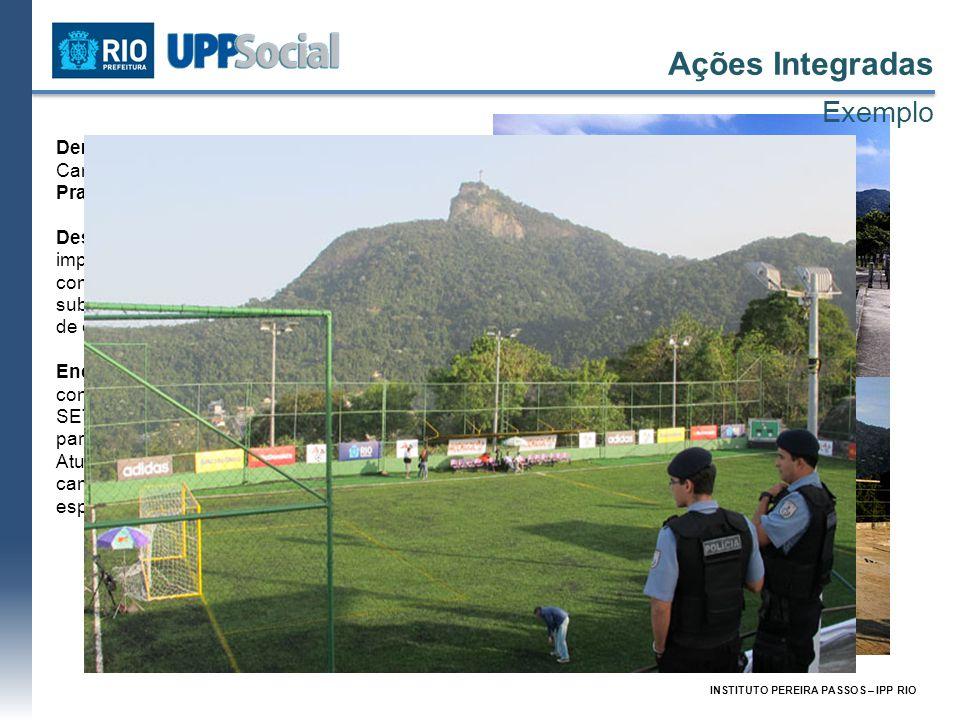 INSTITUTO PEREIRA PASSOS – IPP RIO Demanda: Reforma e revitalização do Campo da Colina no Morro dos Prazeres. Descrição: O Campo da Colina era um impo