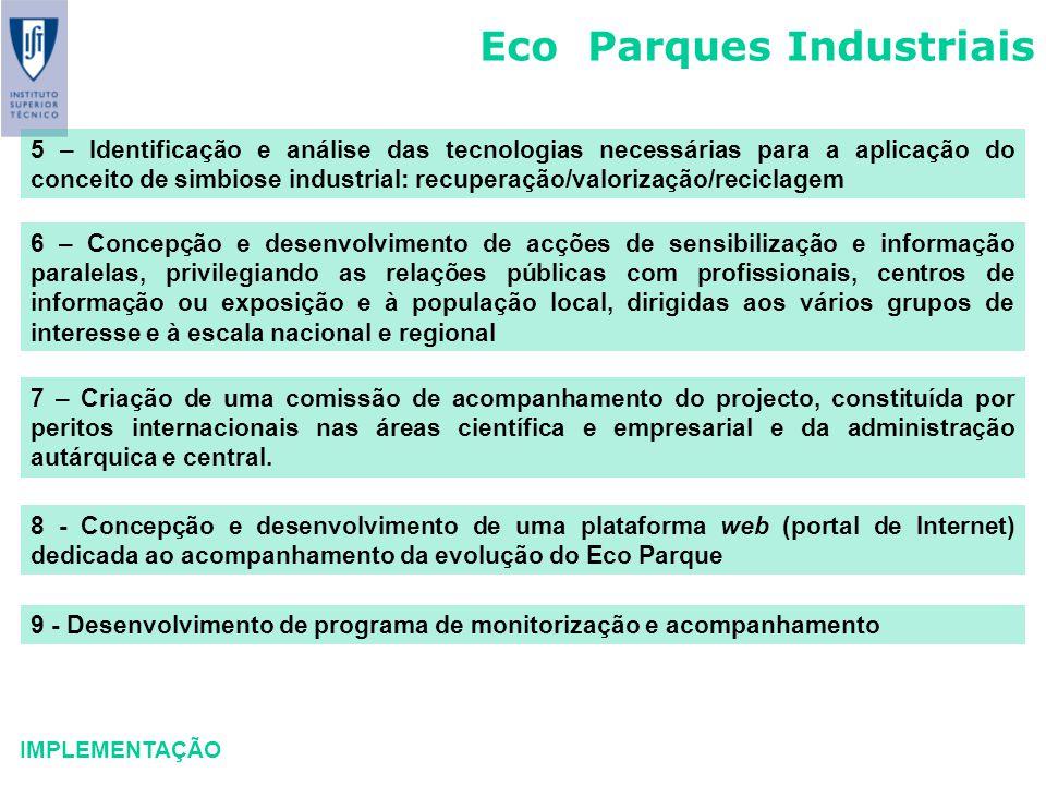 Eco Parques Industriais IMPLEMENTAÇÃO 5 – Identificação e análise das tecnologias necessárias para a aplicação do conceito de simbiose industrial: rec
