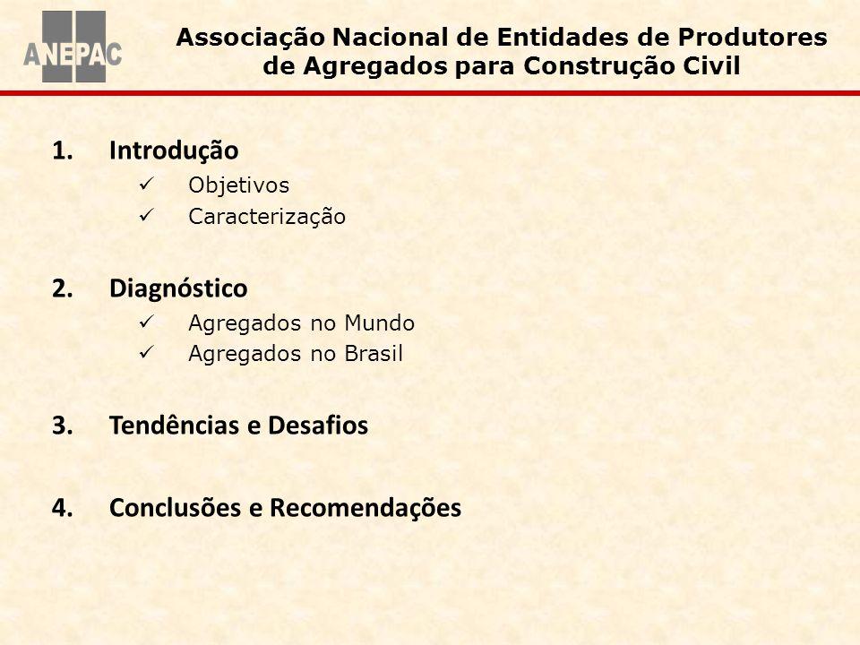 1.Introdução Objetivos Caracterização 2.Diagnóstico Agregados no Mundo Agregados no Brasil 3.Tendências e Desafios 4.Conclusões e Recomendações Associ