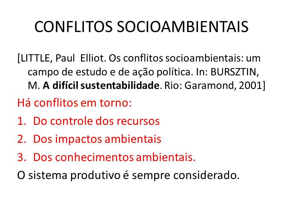 CONFLITOS SOCIOAMBIENTAIS [LITTLE, Paul Elliot.