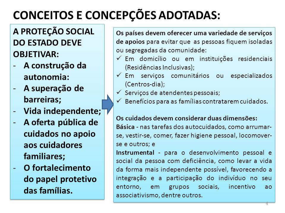 A PROTEÇÃO SOCIAL Á PESSOA COM DEFICIÊNCIA: O Brasil, signatário da CONVENÇÃO DOS DIREITOS DA PESSOA COM DEFICIÊNCIA (CDPD), instituiu o Plano Nacional VIVER SEM LIMITE 2012/14, em 4 eixos: Acesso à Educação, Inclusão Social, Acessibilidade e Saúde.