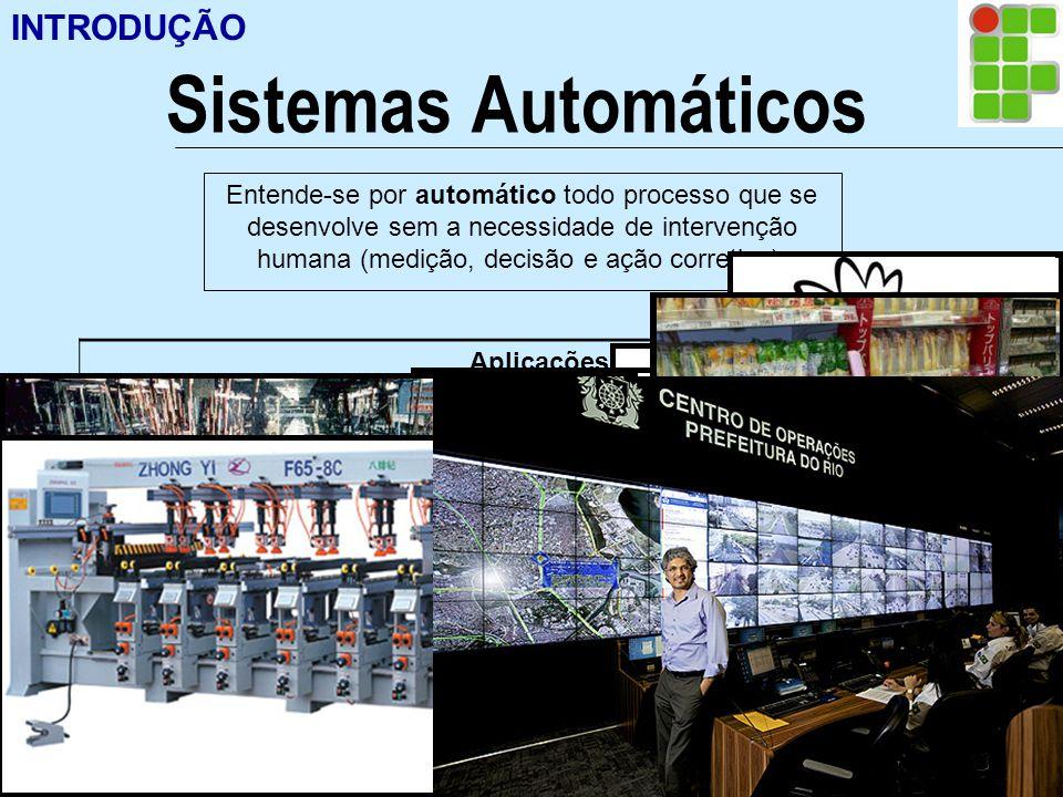 Ir p/ primeira página INTRODUÇÃO Sistemas Automáticos Entende-se por automático todo processo que se desenvolve sem a necessidade de intervenção human