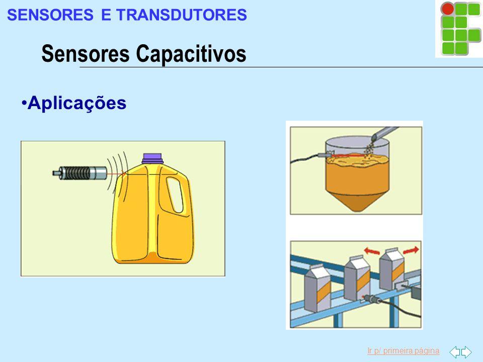 Ir p/ primeira página Aplicações Sensores Capacitivos SENSORES E TRANSDUTORES